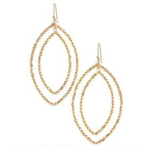 :: Stella & Dot GOLD Bardot Earrings